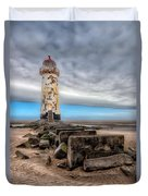Lighthouse Steps Duvet Cover by Adrian Evans
