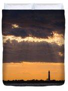 Lighthouse Sun Rays Duvet Cover