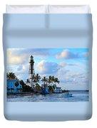 Lighthouse Sunrise Duvet Cover