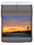 Lighthouse Sunset By Jan Marvin Duvet Cover