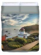 Lighthouse Walk Duvet Cover by Adam Jewell