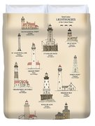 Lighthouses Of The Great Lakes Duvet Cover