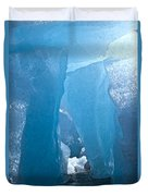 Lighting In Nigardsbreen Glacier Grotto 1 Duvet Cover
