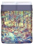 Lighting The Creek Duvet Cover