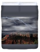 Lightning - North Rim Of Grand Canyon Duvet Cover