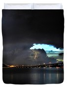 Lightning And The Cerulean Sky Duvet Cover