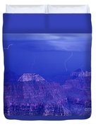 Lightning Strkes At The North Rim Grand Canyon National Park Duvet Cover