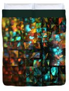 Lights And Fractures Duvet Cover