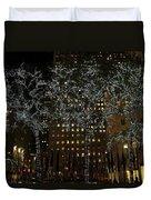 Lights In Rockefeller Center Duvet Cover
