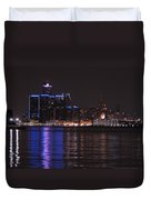 Lights On The Water Duvet Cover