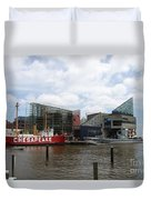 Lightship 116 - Baltimore Harbor Duvet Cover