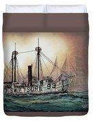 Lightship Swiftsure Duvet Cover