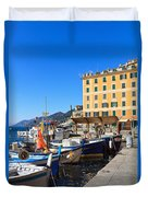 Liguria - Harbor In Camogli Duvet Cover