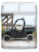 Lil Beach Jeep Duvet Cover