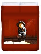 Lil Cowboy Afternoon Duvet Cover