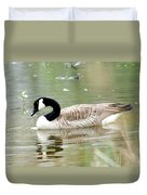 Lila Goose Queen Of The Pond 2 Duvet Cover