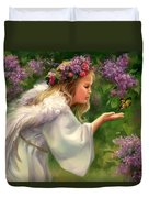 Lilac Angel Duvet Cover