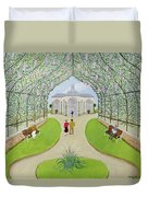 Lilac Arbour Oil On Board Duvet Cover