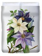 Lilac Clematis Duvet Cover