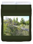 Lilac Fence IIi Duvet Cover