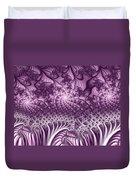 Lilac Fractal World Duvet Cover