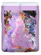 Lilac Goldfish Duvet Cover