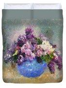 Lilac In Blue Vase Duvet Cover