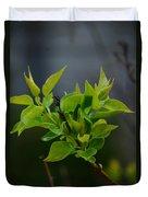 Lilac Leaves Duvet Cover