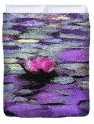 Lilac Lily Pond Duvet Cover