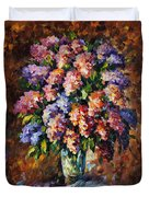 Lilac - Palette Knife Oil Painting On Canvas By Leonid Afremov Duvet Cover