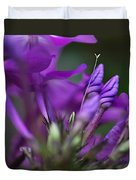 Lilac Petals And Purple Buds Duvet Cover