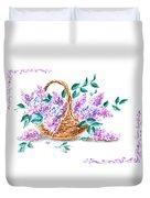 Lilac Vintage Impressionism Painting Duvet Cover