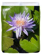 Lilac Water Lily Duvet Cover