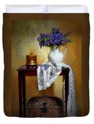 Lilacs And Lace Duvet Cover