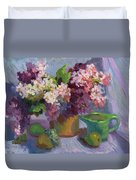 Lilacs And Pears Duvet Cover