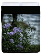 Lilacs By The River Duvet Cover