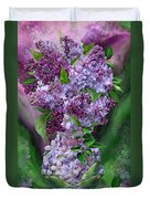 Lilacs In Lilac Vase Duvet Cover