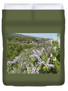 Lilacs On The Hill Duvet Cover