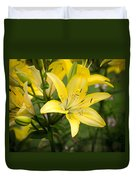 Lilies In The Sun Duvet Cover