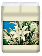 Lilies In White Duvet Cover