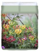 Lilies Of Color Duvet Cover