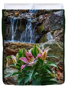 Lilies Of The Falls Duvet Cover