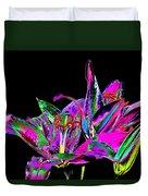 Lilies Pop Art Duvet Cover