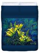 Lilies Duvet Cover by Zaira Dzhaubaeva