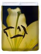 Lilium In Yellow Duvet Cover