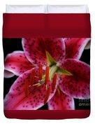 Lilium Pink Stargazer Duvet Cover