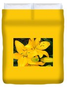 Lillies In Yellow Duvet Cover