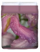 Lily In The Rain Duvet Cover