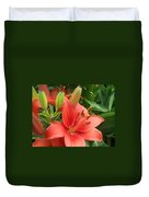 Lillys And Buds 1 Duvet Cover