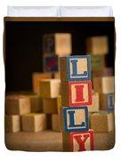 Lily - Alphabet Blocks Duvet Cover